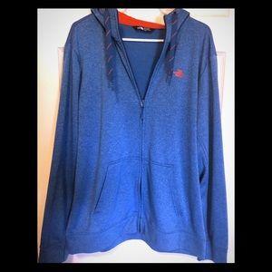 Men's North Face zip up hoodie SZ XL